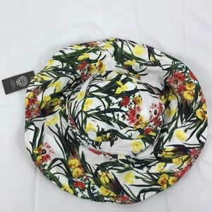 Vince Camuto floral one size floppy hat NWT
